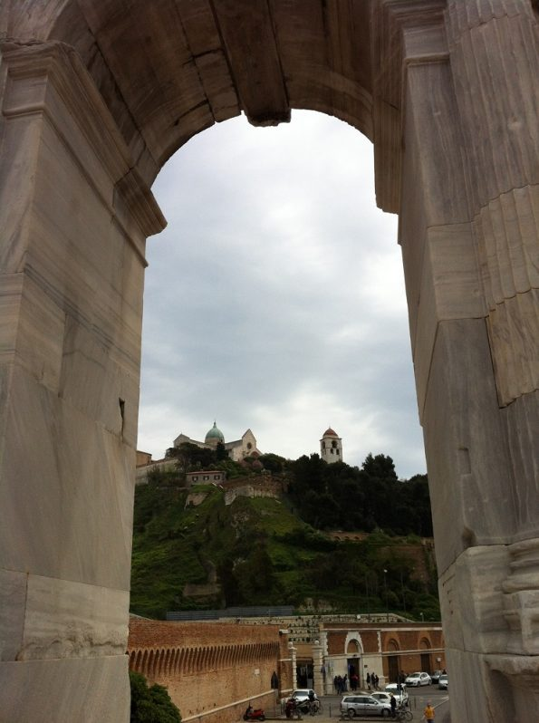 View from Trajan Arch