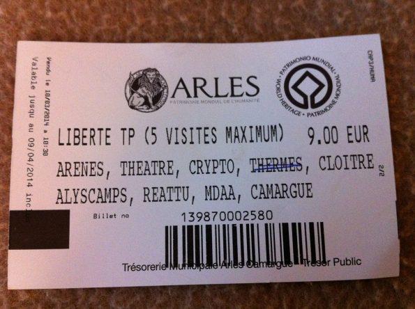 Arles Roman ticket