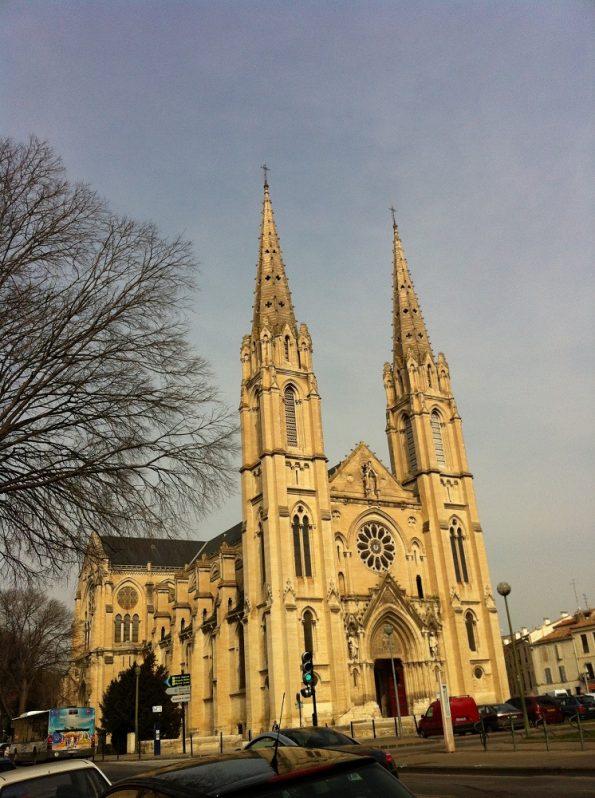 Beautiful Catholic Church in Nimes