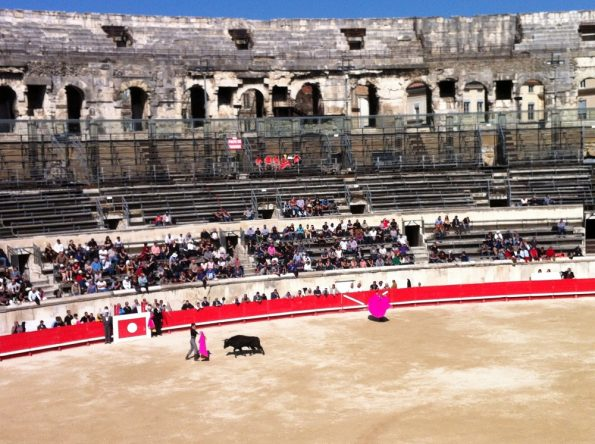 Bull fight in Nimes