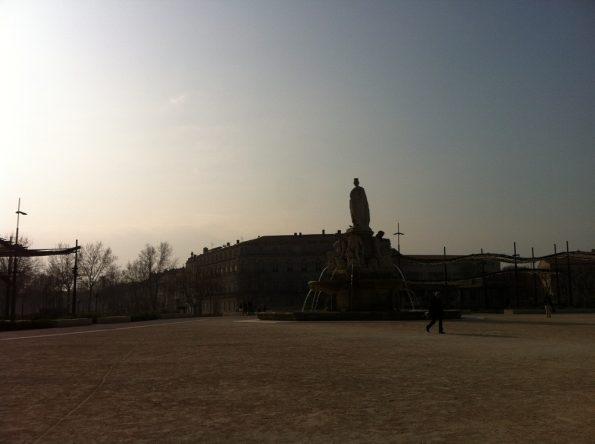 Open square in Nimes