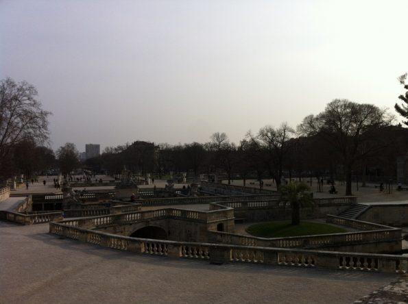 Quite huge Jardins de la Fontaine in Nimes