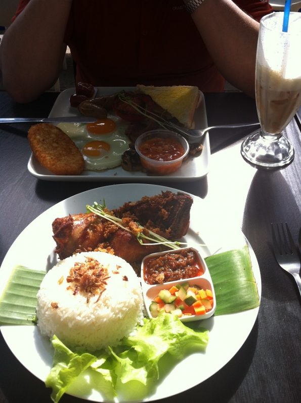 Ayam Goreng or Fried Chicken (Indonesian Style) from Bagus Cafe