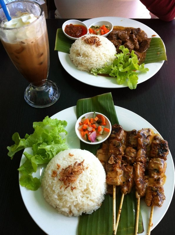 Sate Ayam or Chicken Satay from Bagus Cafe