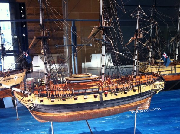 Model of The First Fleet
