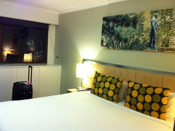 Our room at Travelodge Sydney Wynyard