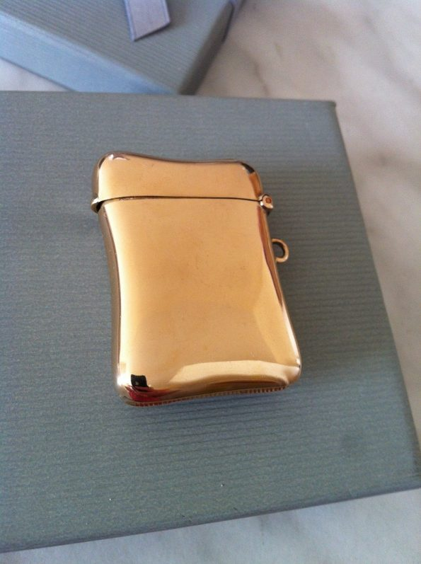 Edwardian Gold vesta case