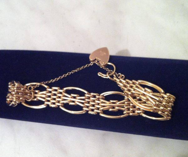 Fancy Link Bracelet 9ct Gold