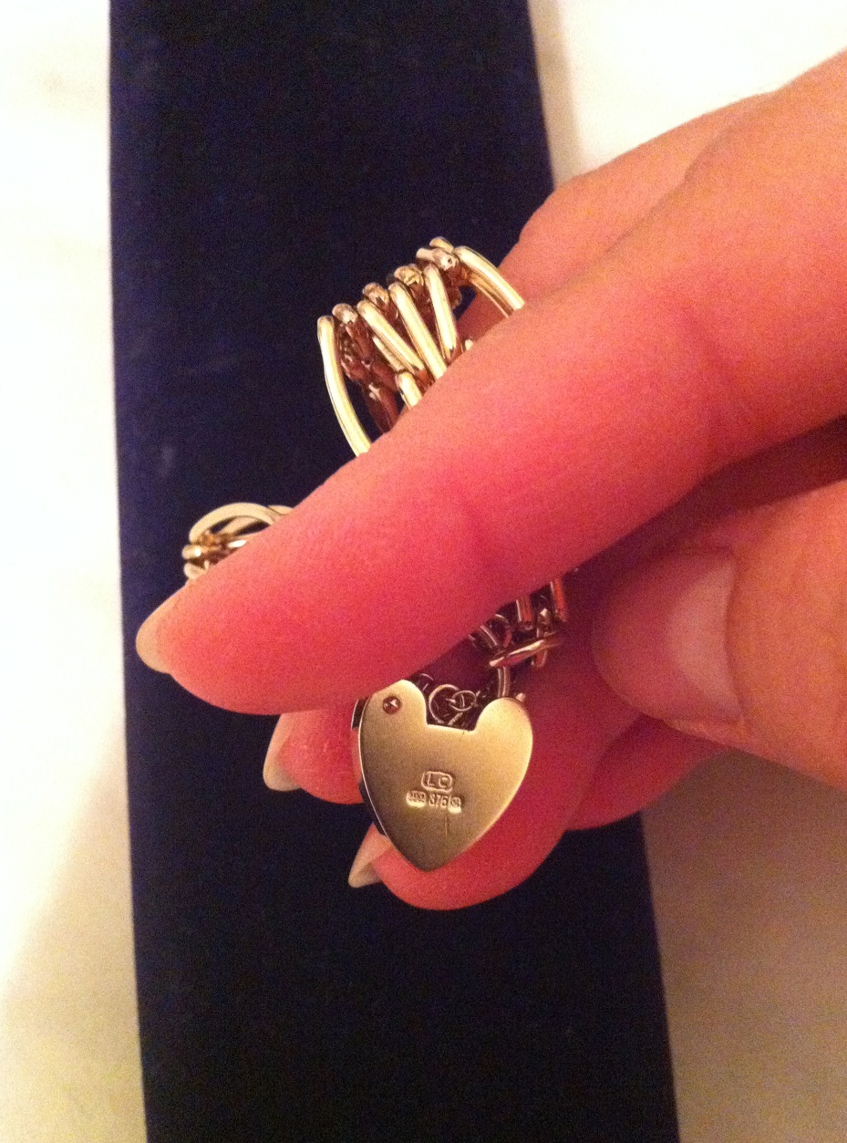 Bracelet with Heart Padlock – Maria Bristoll