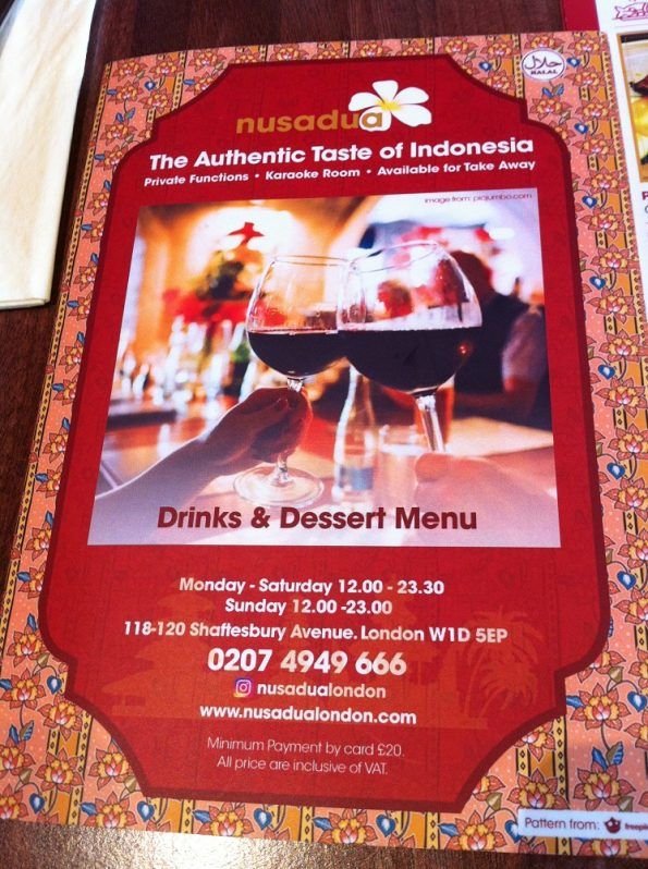 Nusa Dua Indonesian Restaurant London