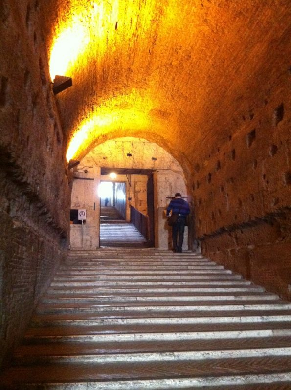Castle St Angelo entrance stairs