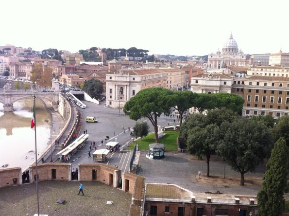 Castle St Angelo looking at the Vatican