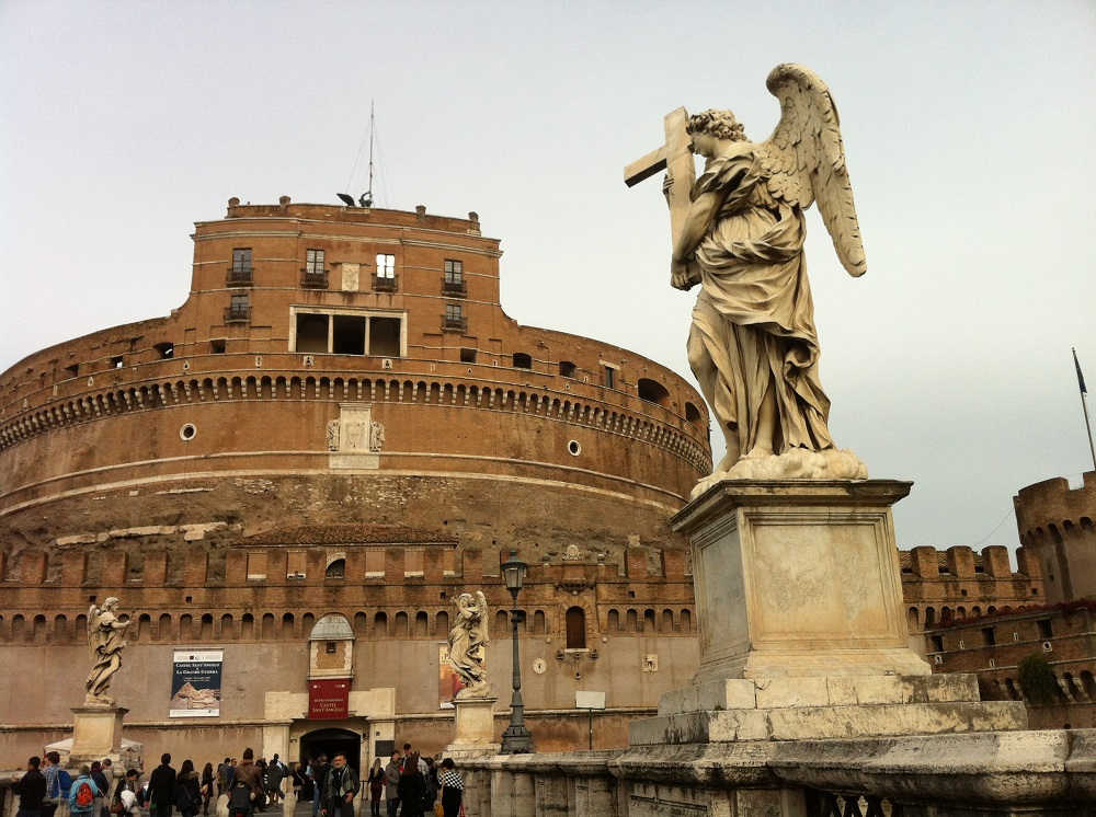 Castle St Angelo with Angel holding cross