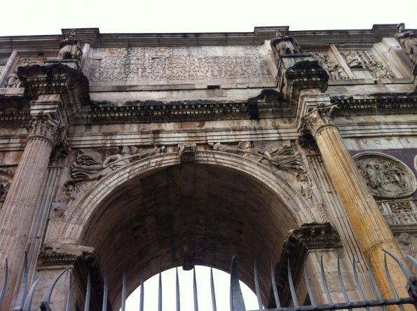 Closer look at the Arch of Constantine in Rome