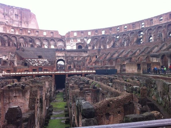 Ground Floor of Colosseum in Rome