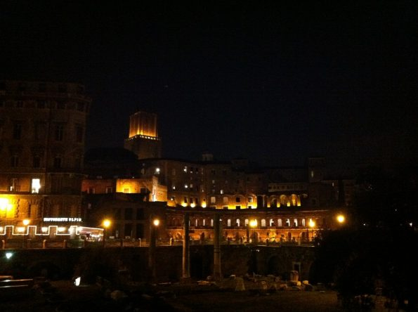 Rome Forum at night