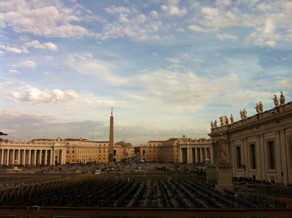 St Peters square in Vatican