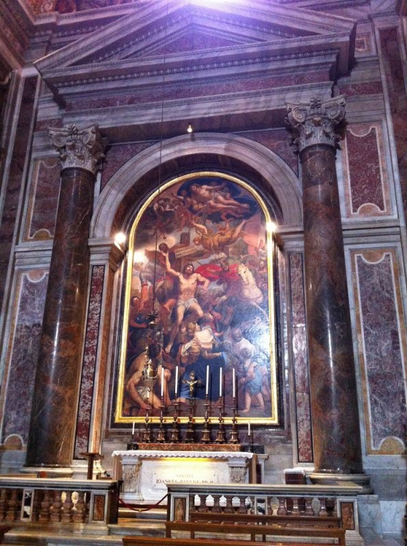 St Sebastian Chapel at St Peter's Basilica