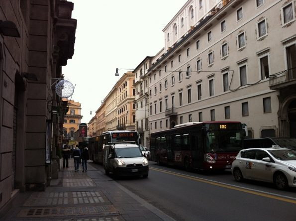 Busy street in Rome