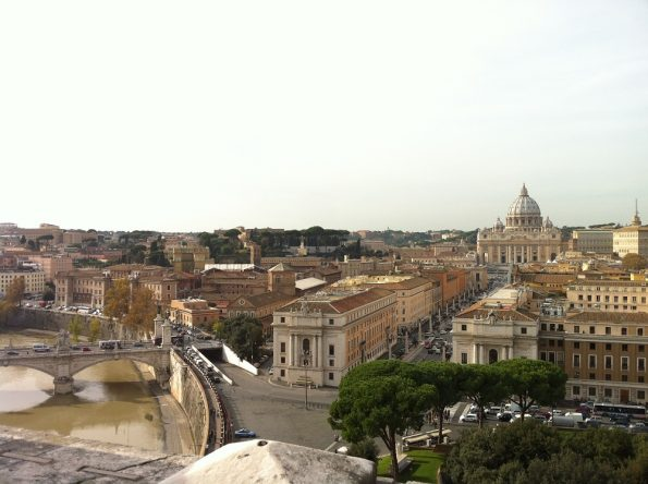 View from Castel Sant'Angelo towards Vatican