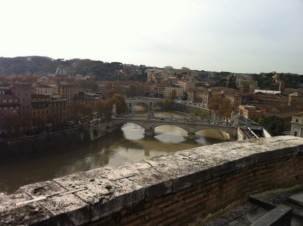 View of River Tiber in Rome