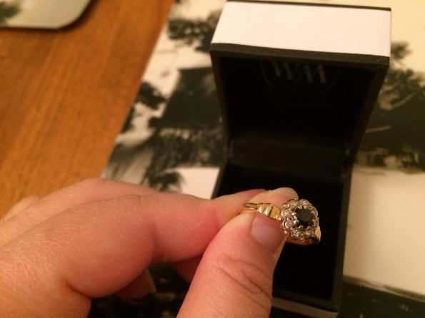 8 Diamonds single cut vintage 18k ring
