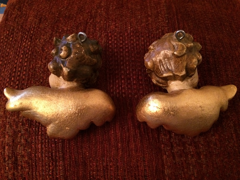 A Pair Of Antique Cherubs Wood Carving Maria Bristoll