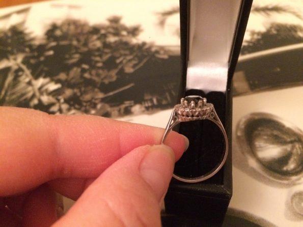 Vintage sapphire diamond year 1970 ring