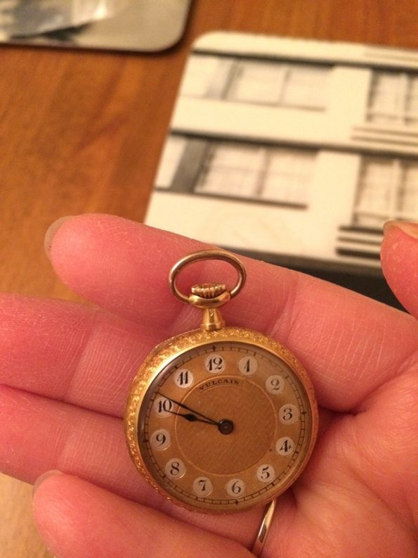 Vulcain ladies 18ct gold pocket watch