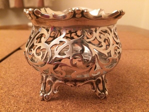1847 Silver Pot Holder Victorian