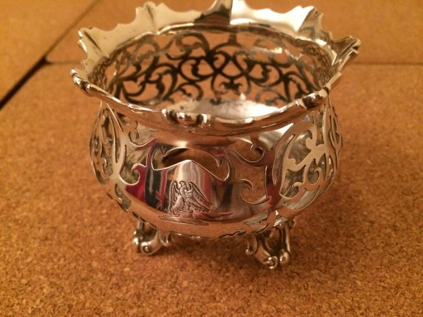 Victorian Silver Antique Pot Holder