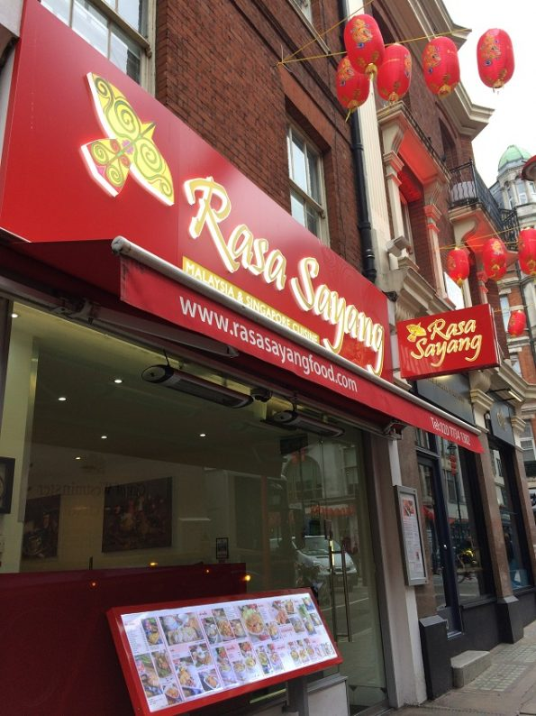 Rasa Sayang Restaurant at Chinatown London