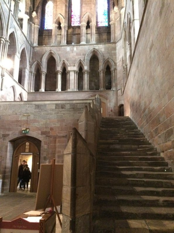 Beautiful old stairs at Hexham Abbey