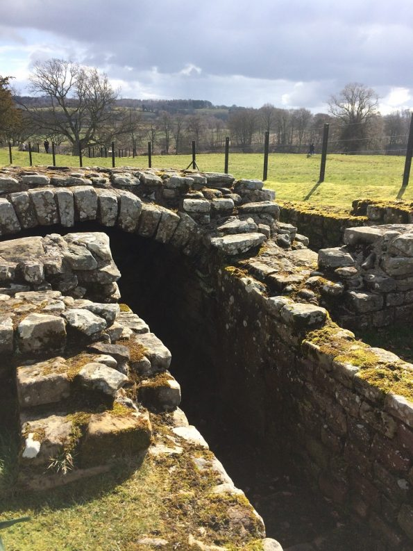 Chesters Roman Fort ditch for hot water