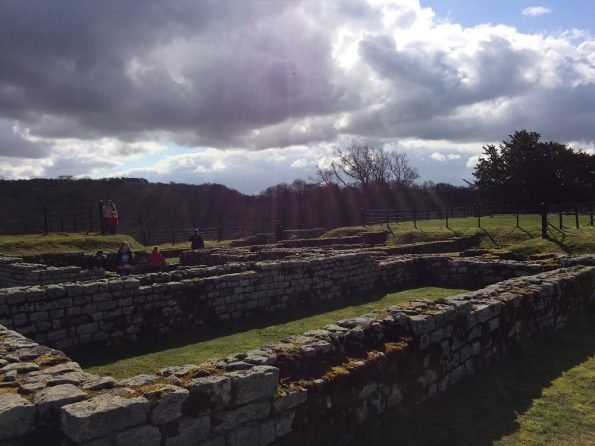 Chesters Roman Fort on a dash on a sunChesters Roman Fort on a dash on a sun