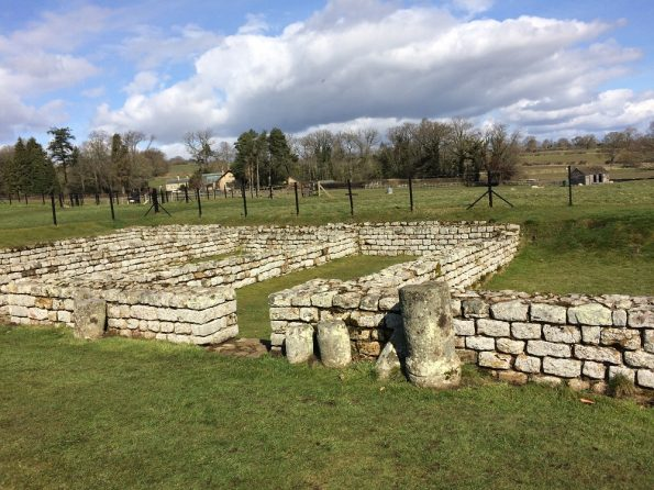Chesters Roman Fort on a sunny day