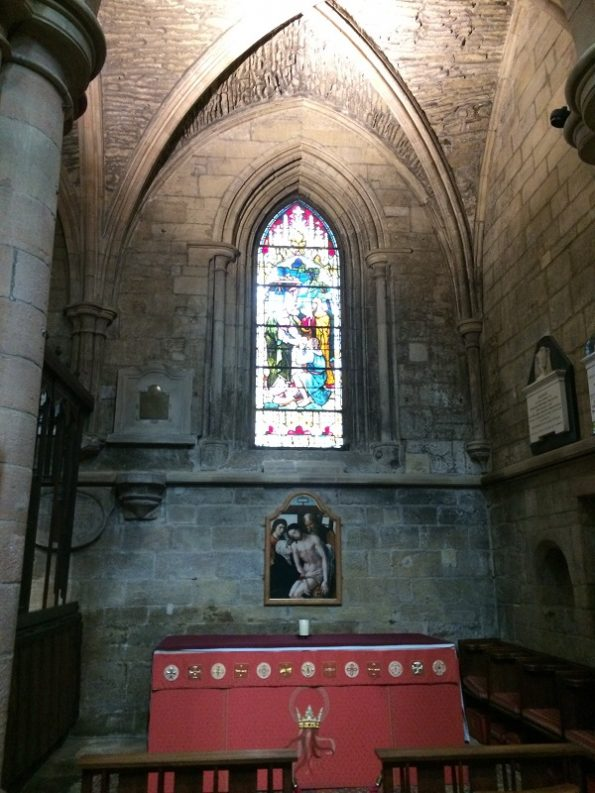 Hexham Abbey altar near the entrance