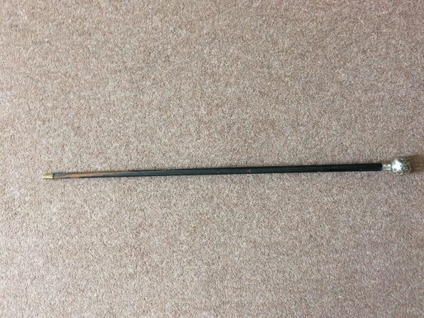 Antique Silver Swagger Stick 1913