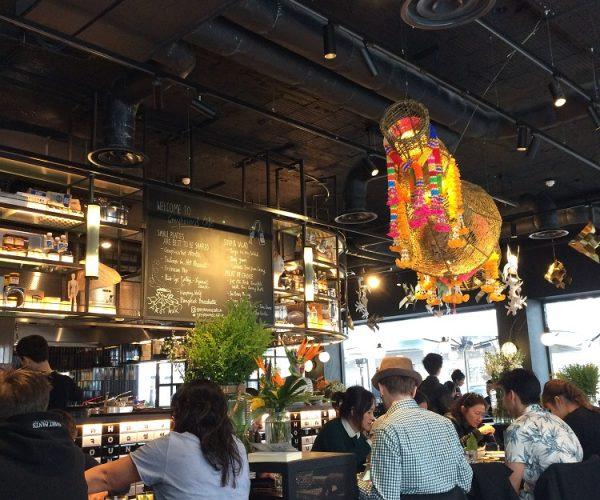 Greyhound Cafe london bar area