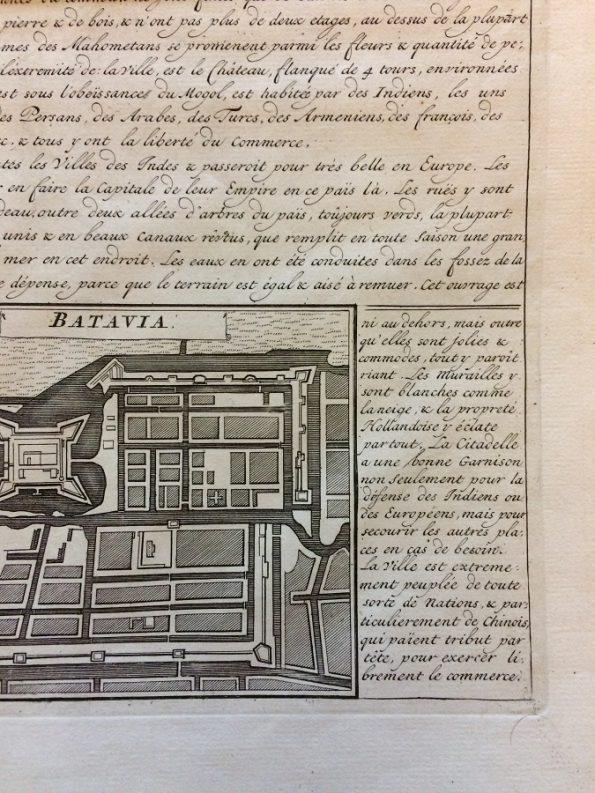 18th Century Map Vue et Description de Surate et de Batavia