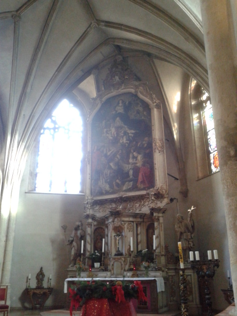 Beautiful altar at St Michael's Church