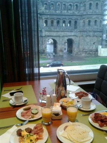 Breakfast at Mercure Hotel with View of Porta Nigra