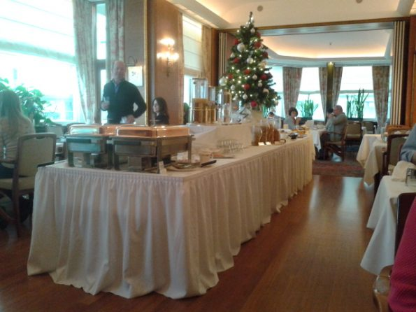 Christmas Tree at the breakfast room of Grand Hotel Cravat