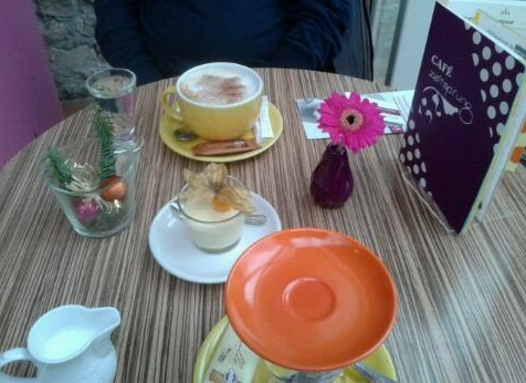 Coffee break in the Trier Archeological Museum