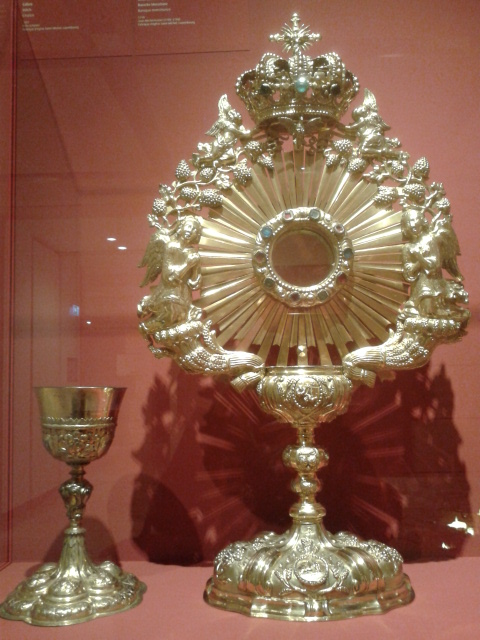 Gold Chalice and Monstrance