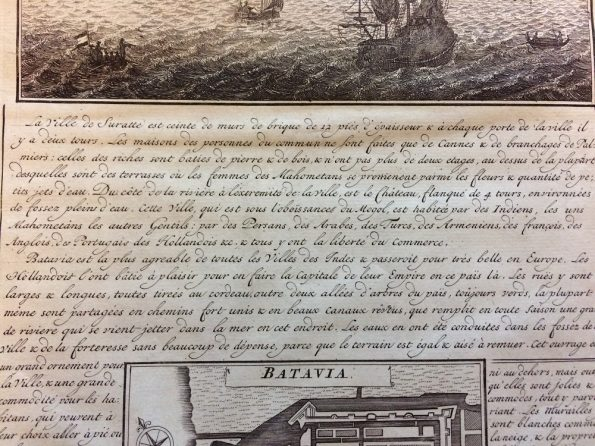 Some descriptions about the Surat town and the plan of Batavia