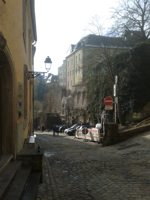 Hill hike street of Luxembourg