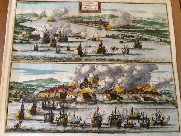 La Ville de Palimbang dans l 'ile de Sumatra