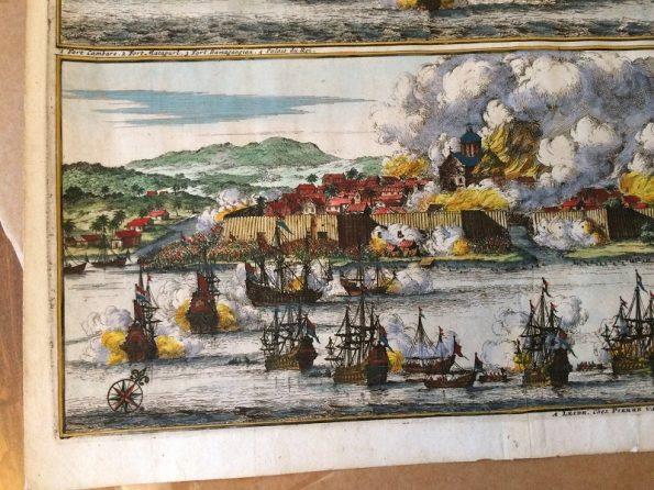 Leiden Pieter van der Aa La Ville de Palimbang 1719