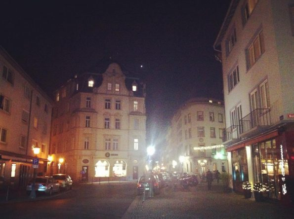 Mainz Altstadt at night